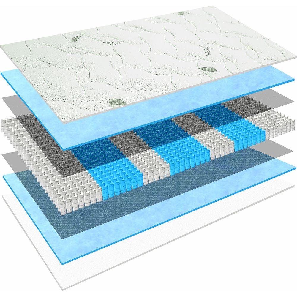 """Micro-Tonnentaschenfederkern-Matratze /""""MÜNCHEN 1000/"""" 7-Zonen H4 80x200cm TOP"""